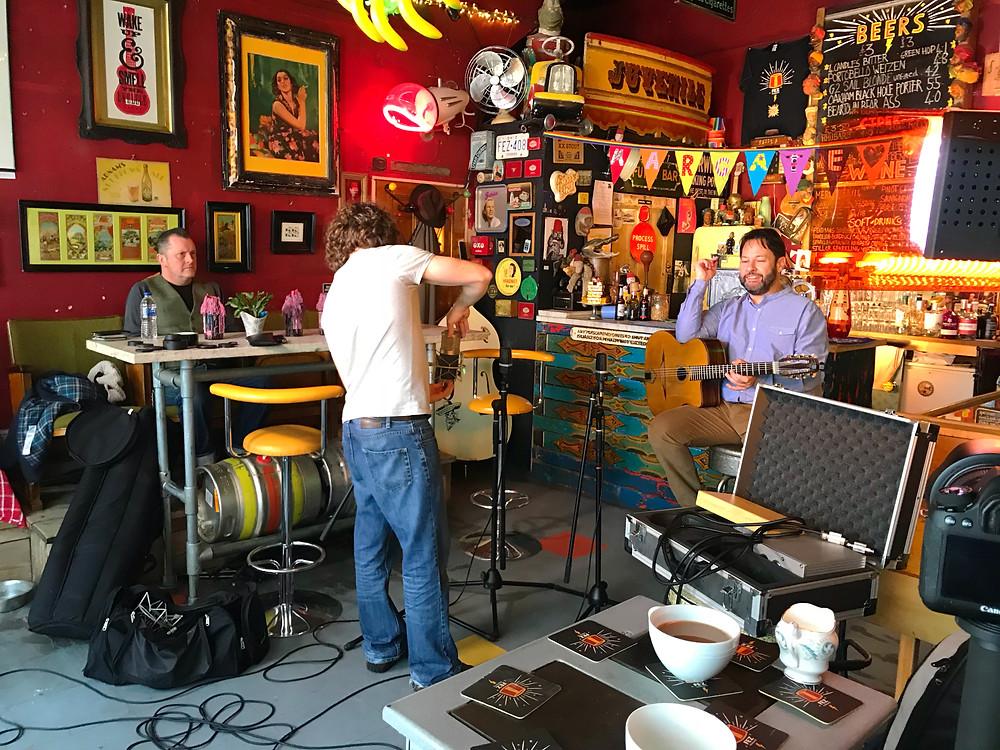 Jonny Hepbir Trio Filming At Fez Micropub Margate Kent