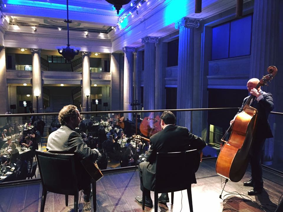 Jonny Hepbir Trio And Quartet Play An Award Ceremony At Banking Hall London