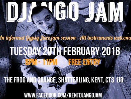 Play And Learn Gypsy Jazz In Kent! Monthly Django Jam Session Near Canterbury