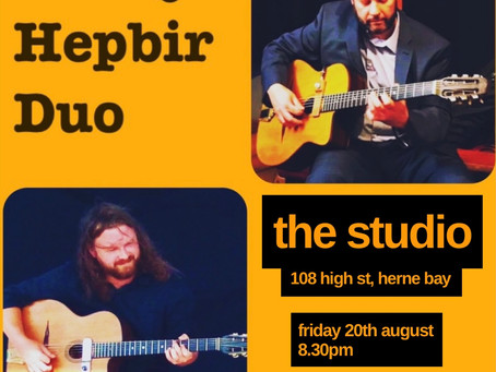 Jonny Hepbir Guitar Duo At The Studio Herne Bay Kent Friday 20th August   Hire The Duo For An Event