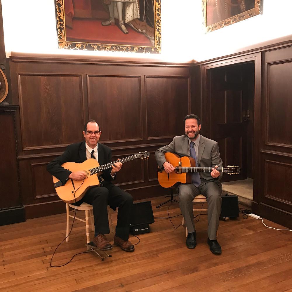 Jonny Hepbir Gypsy Jazz Guitar Duo At A Wedding In Fulham Palace London