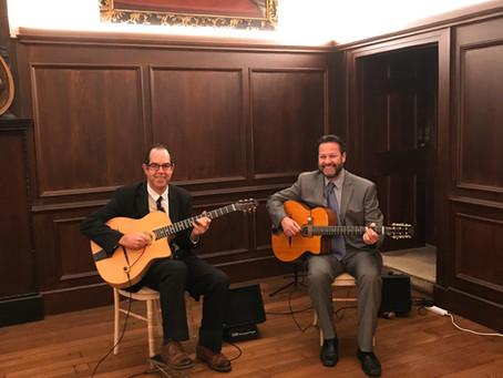 London Gypsy Jazz Band Hire | Jonny Hepbir Guitar Duo At Fulham Palace Wedding