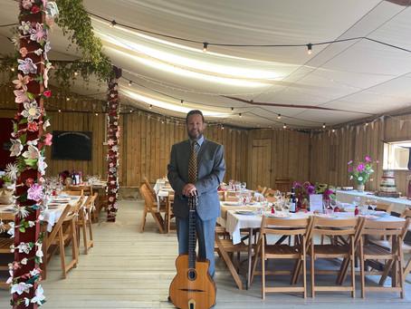 Solo Gypsy Jazz Guitar For A Wedding At Hawthbush Farm East Sussex | Hire Jonny Hepbir For A Wedding