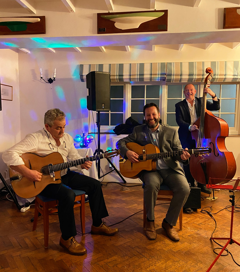Jonny Hepbir Jazz Trio At A Wedding In Itchenor Sailing Club Near Chichester