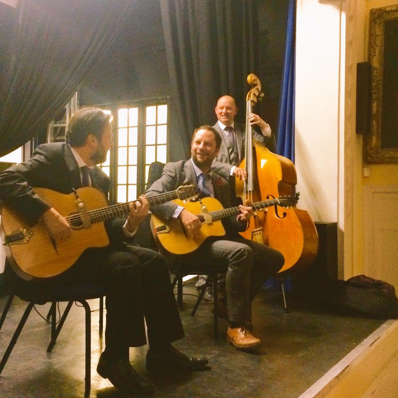 Jonny Hepbir Trio play a 50th Birthday Party at Tenterden Town Hall in Kent