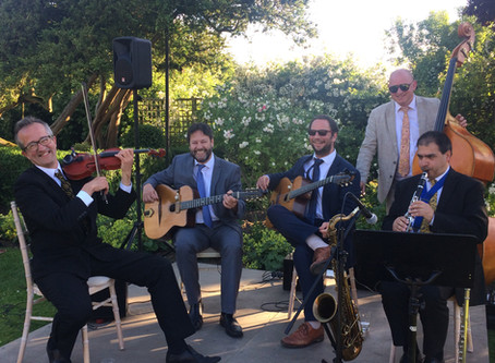 Jonny Hepbir Gypsy Jazz Quintet At Childerley Hall Anniversary Celebration In Cambridgeshire