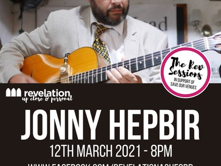 Free Gypsy Jazz Live Stream Event For Revelation Ashford| Jonny Hepbir Solo Guitar Friday 12th March