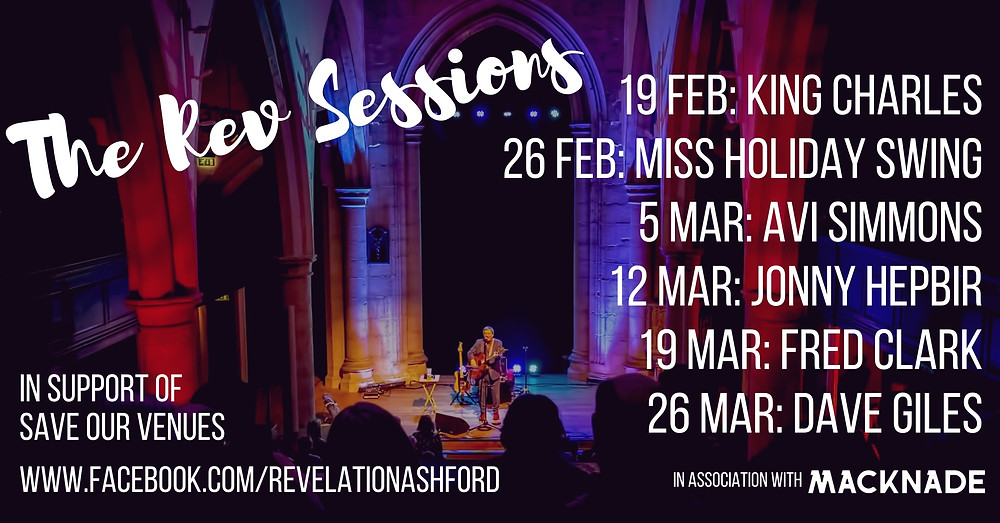 The Rev Sessions Full Artist Line up - Jonny Hepbir Solo Gypsy Jazz Guitar Live On Friday 12th March 8pm