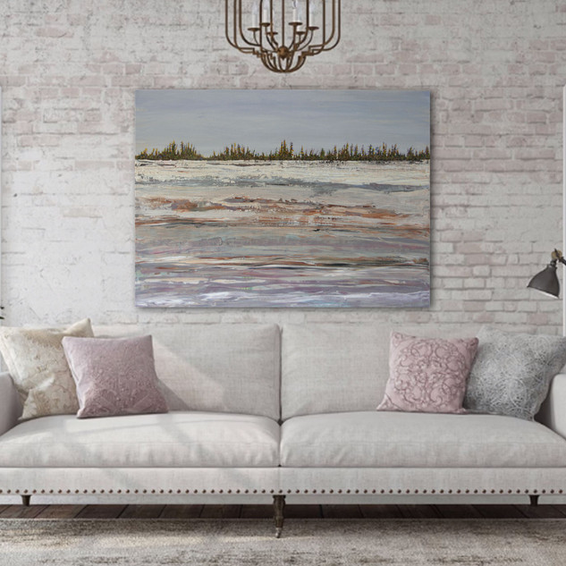 Winter Harmony in a room setting
