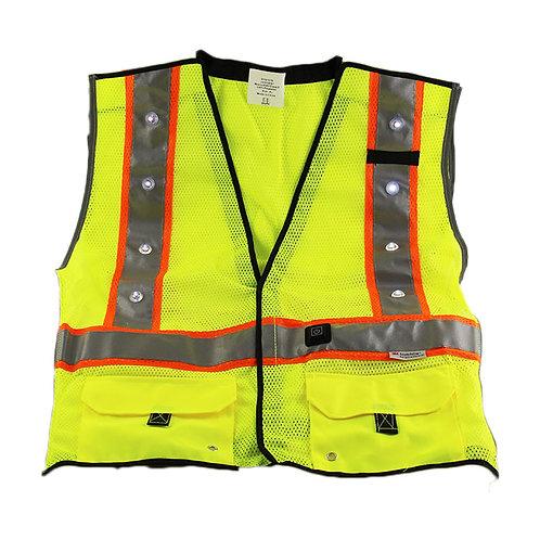 LED ANSI Class 2 Safety Vest Yellow