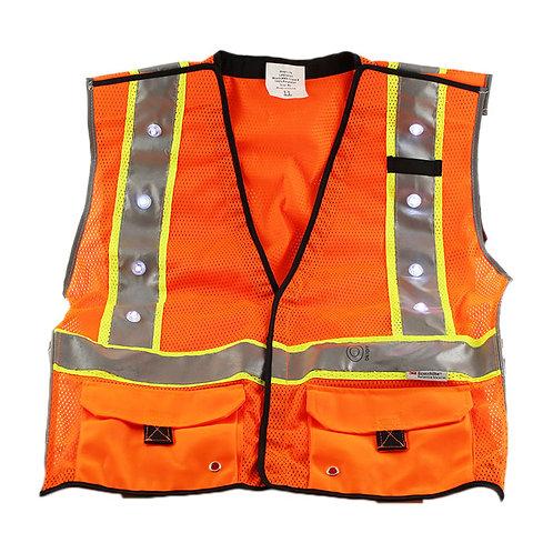LED Class 2 Safety Vest Orange