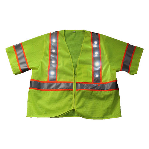 LED Class 3 Safety Vest Yellow
