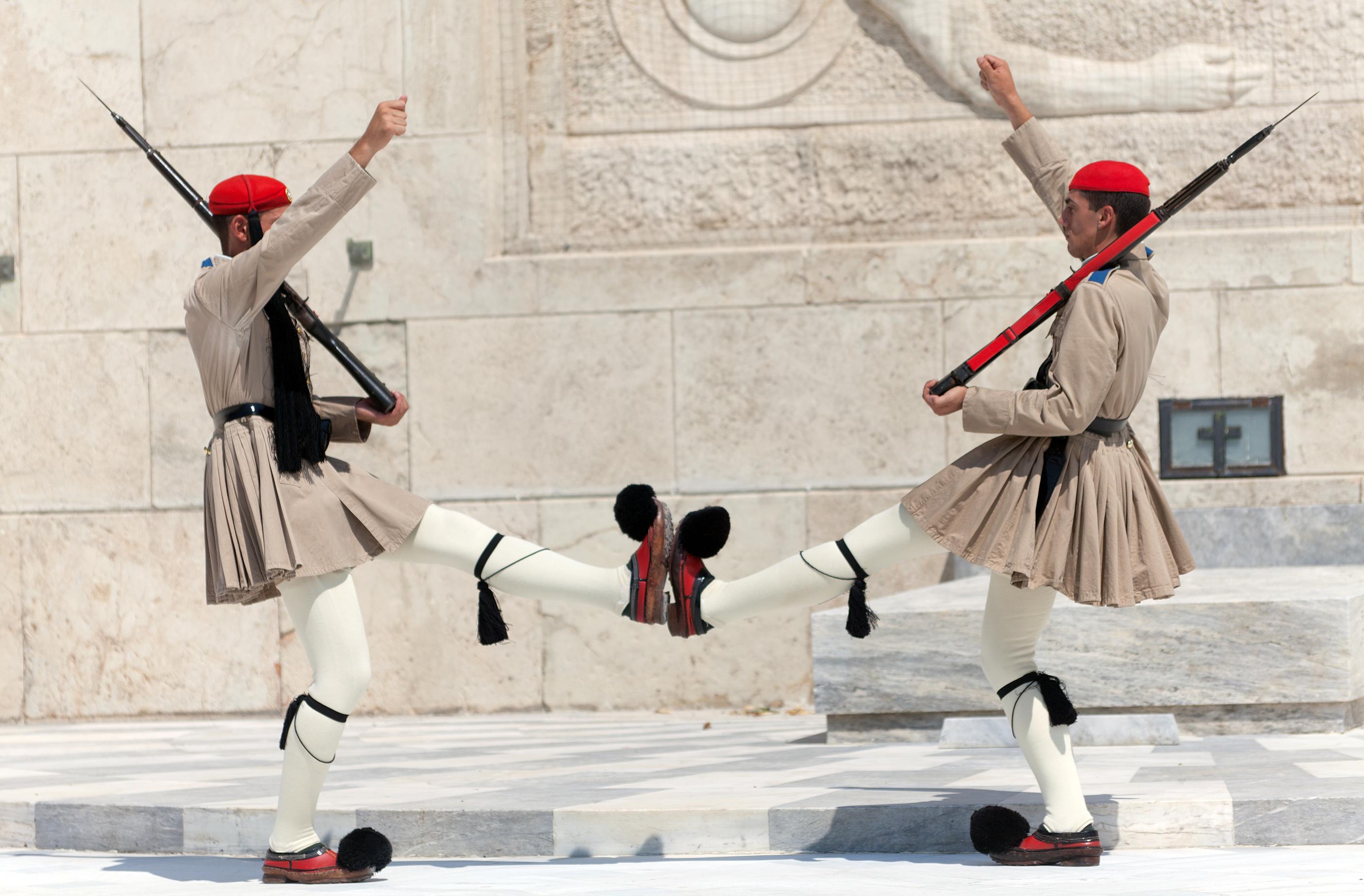 Evzones presidential guards, Athens, Gre