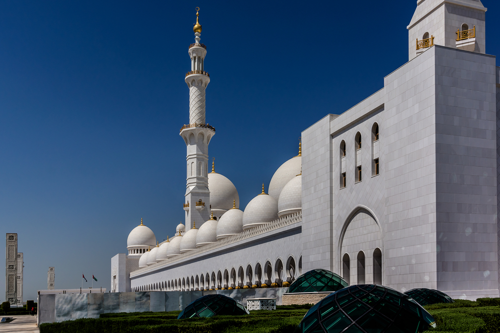 Sheikh Zayed Grand Mosque located in Abu