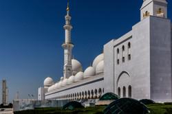 Sheikh Zayed Grand Mosque located in Abu
