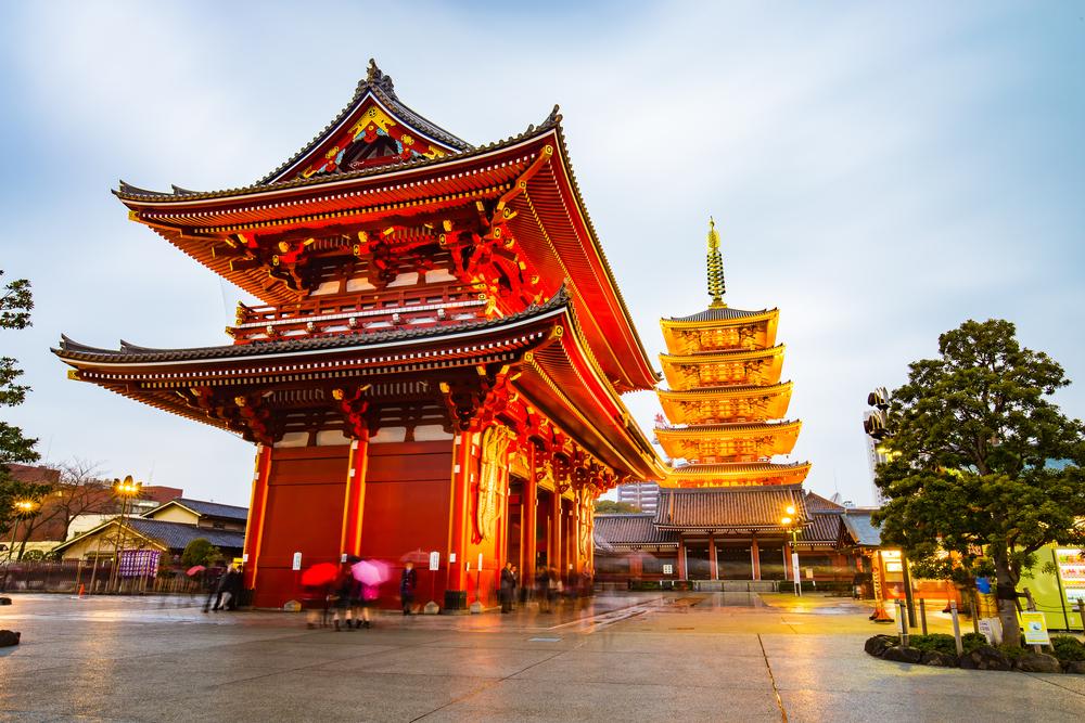 Senso-ji temple in Tokyo, Japan.