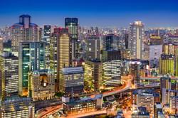 Osaka, Japan cityscape in the Umeda Dist