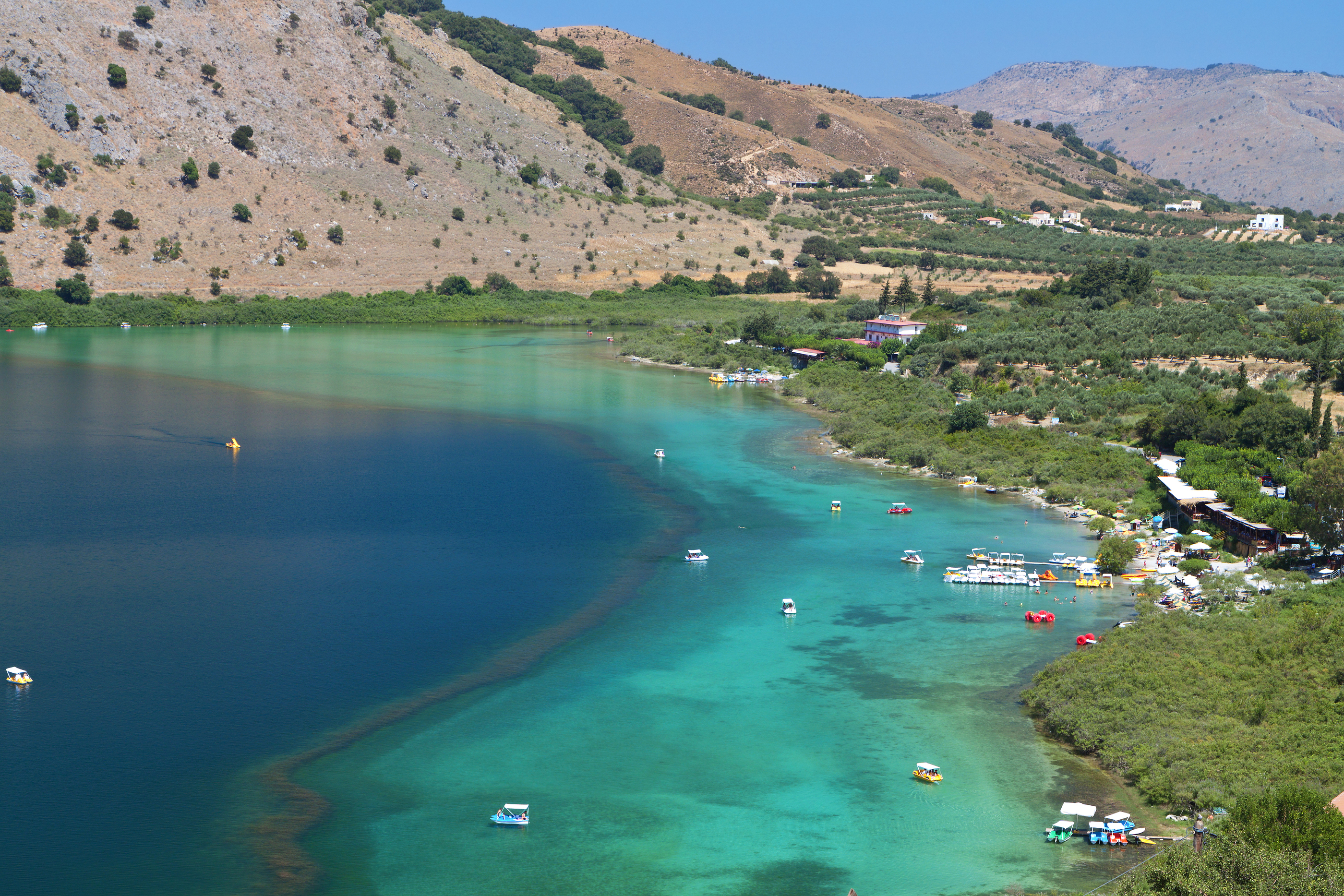 Lake Kournas at Crete, Greece.