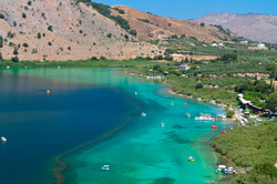 Lake Kournas at Crete, Greece.