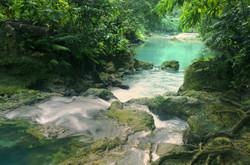 Cascades waterfall Kawasan, Philippines.