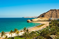 Oman Coast Landscape.