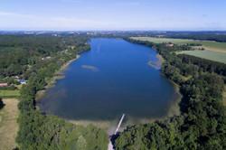 Aerial view of Buresoe lake located in Z