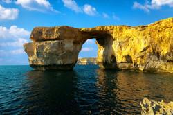 Azure Window, famous stone arch on Gozo