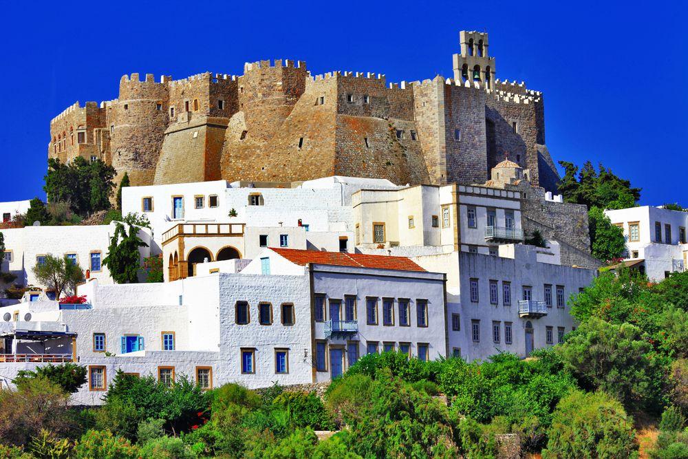 Unesco-heritage-site,-Patmos-Island,-Dod