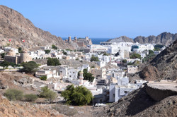 View of old town of Muscat, Oman