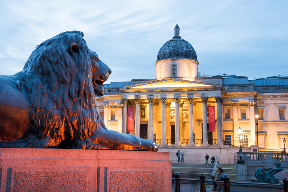 Trafalgar square, London, UK.