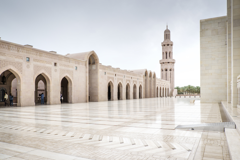 Grand Sultan Qaboos Mosque in Muscat, Om