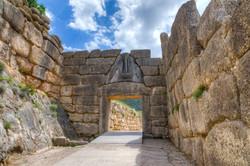 Lion Gate, Mycenae, Peloponnese,Greece