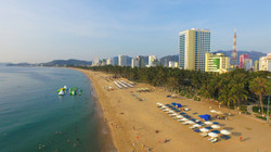 Beach in Nha Trang city, Khanh Hoa, Viet