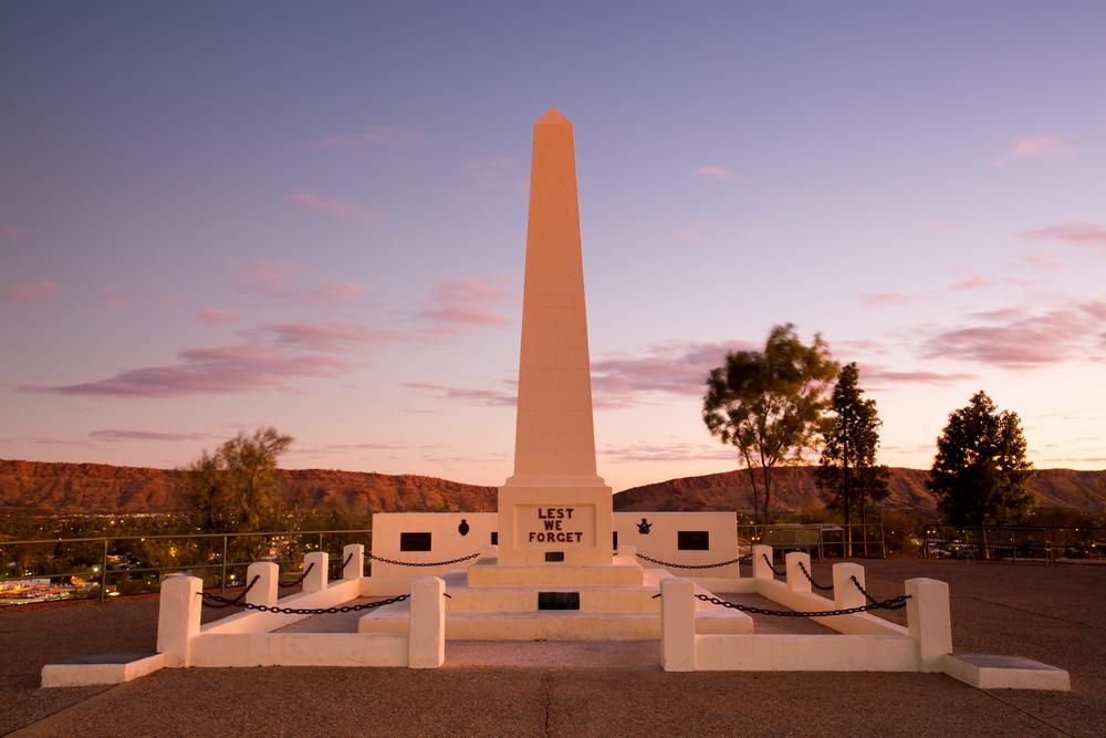 Anzac Hill memorial in Alice Springs, No