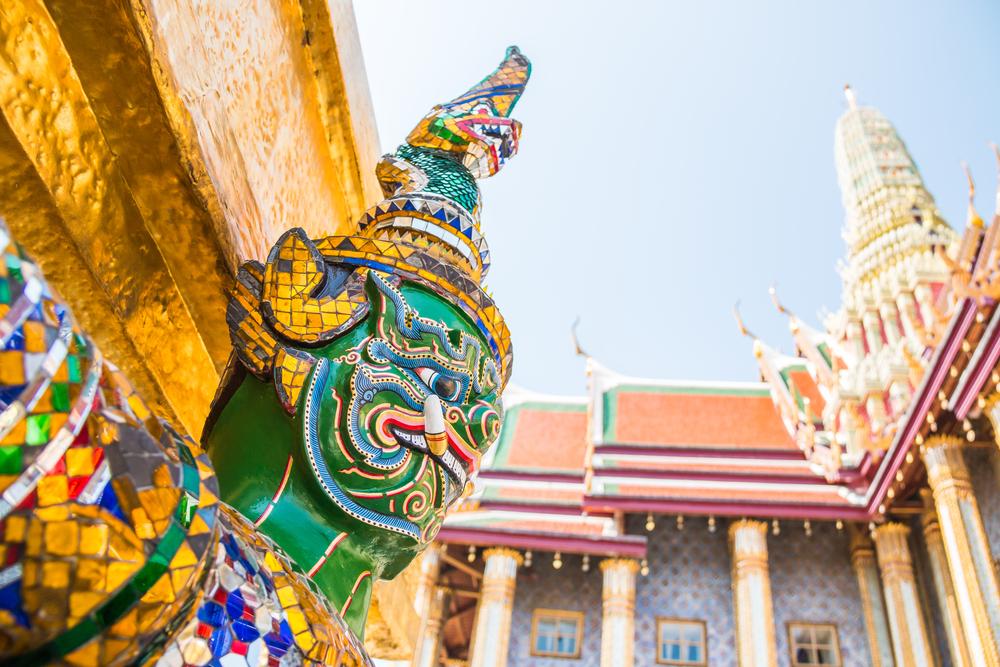 Wat Phra Ka, Bangkok, Thailand.