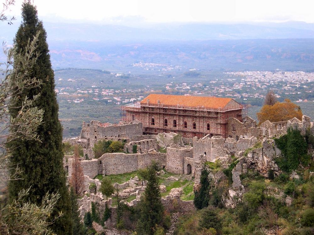 Mystras ruins , in Sparta,Laconia,Greece