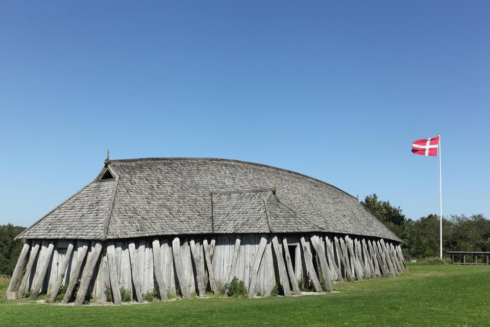 Viking house in Hobro, Denmark.