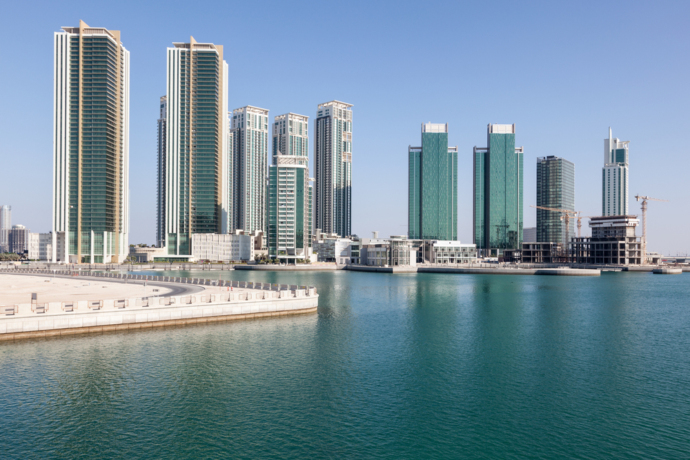 Skyline of Al Maryah Island in Abu Dhabi