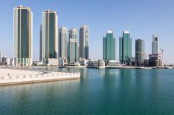 Skyline of Al Maryah Island in Abu Dhabi