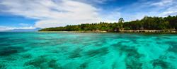 Panoramic views of the tropical island o