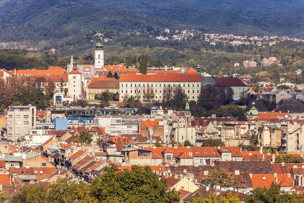 Center of Zagreb city, Croatia.