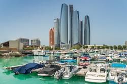 Al Bateen marina in Abu Dhabi Emireates
