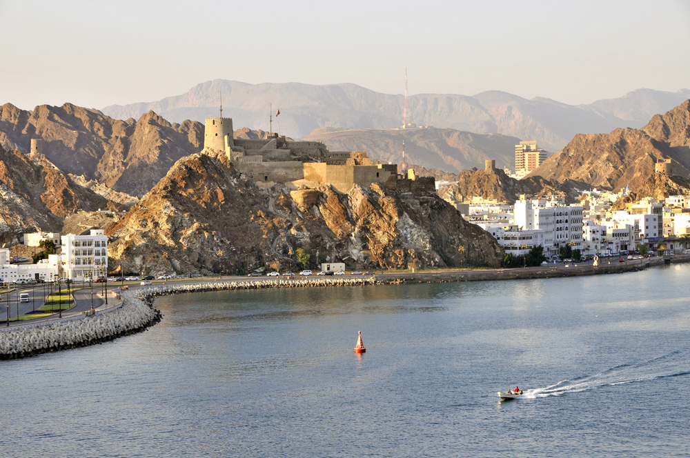 Muttrah Corniche and harbour in Muscat O