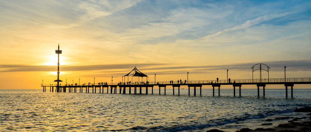 Brighton jetty at sunset, Adelaide, Sout