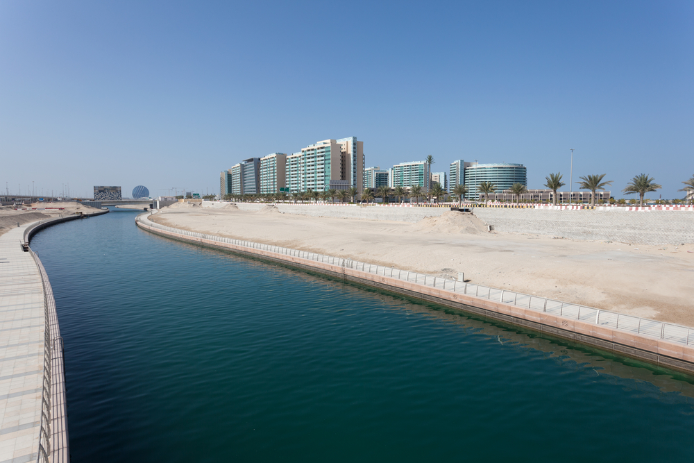 Al Muneera Canal in Abu Dhabi, United Ar