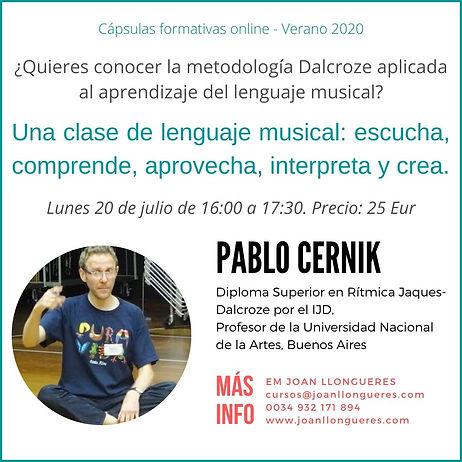 Capsula Dalcroze verano 2020  Pablo Cern