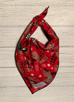 Christmas Moose Flannel Bandana