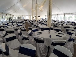 Long view inside tent