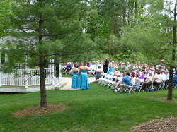 Ceremony view from reception tent