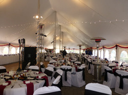 Fall wedding with heaters